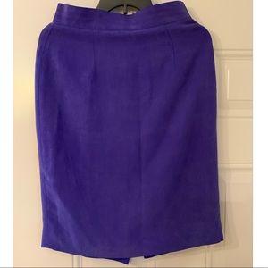 Purple silk skirt